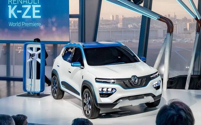 Renault Kwid elétrico é o K-ZE na versão conceitual. Modelo será feito na China, mas chegará a outros países