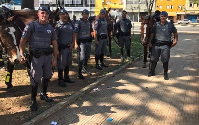 Policiais do 1ª Esquadrão da Cavalaria da Polícia Militar de São Paulo demonstraram excelência em atendimentos