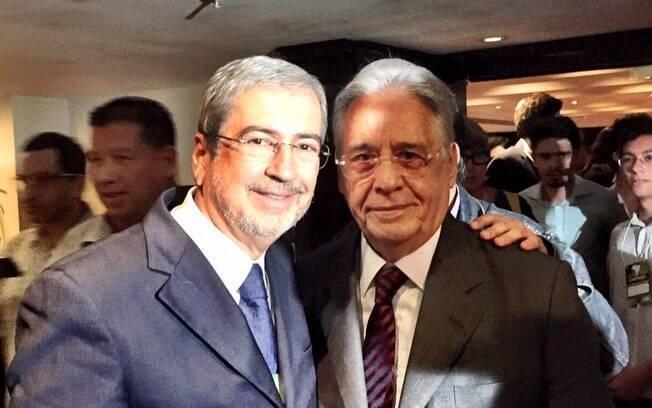 O deputado Antonio Imbassahy ao lado do ex-presidente Fernando Henrique Cardoso, em 2015