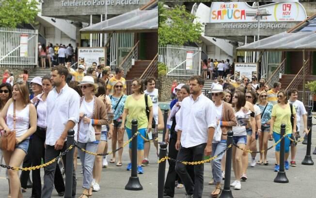 Diane Kruger enfreta fila no Rio