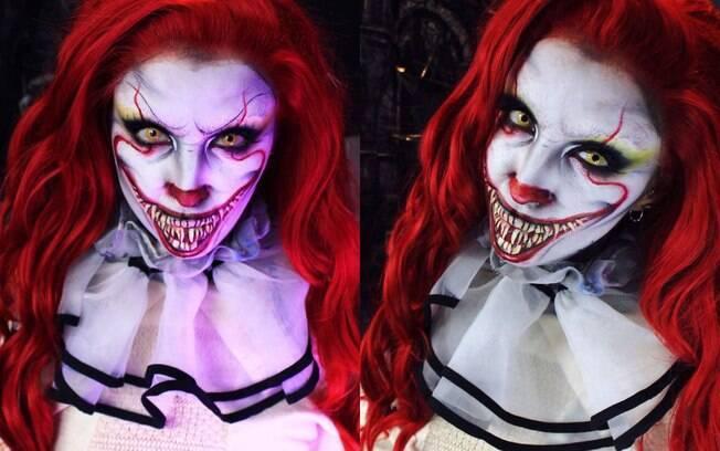 Ellie trabalha com maquiagem artística e suas criações são inspiradas em criaturas assustadoras, como Pennywise de 'It'