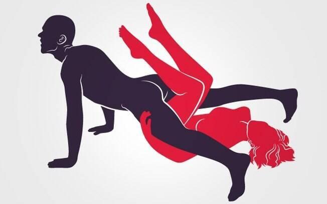Posição sexual ou exercício para braços? Nesta opção, o homem fica na posição de flexão o tempo todo