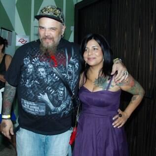 João Gordo com a mulher