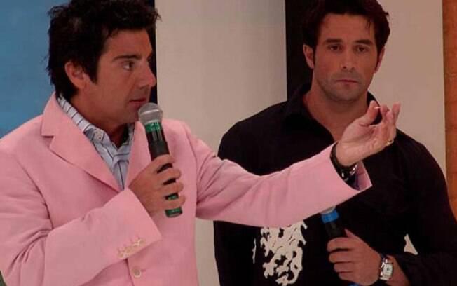João Kléber e o ator do 'Teste de Fidelidade', Marcos Oliver