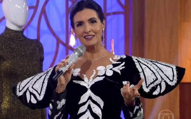 Fátima Bernardes usou figurino de Hebe para homenagear apresentadora no