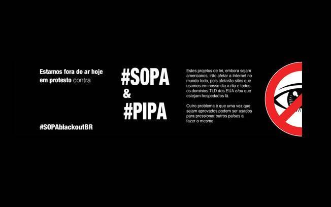 Site do cantor e ex-ministro Gilberto Gil fica fora do ar em protesto contra o SOPA