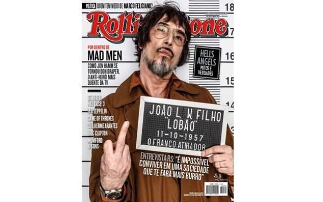 Lobão na capa da revista Rolling Stones