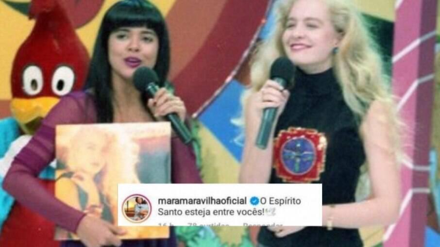 Mara Maravilha deixa comentário em foto de Angélica