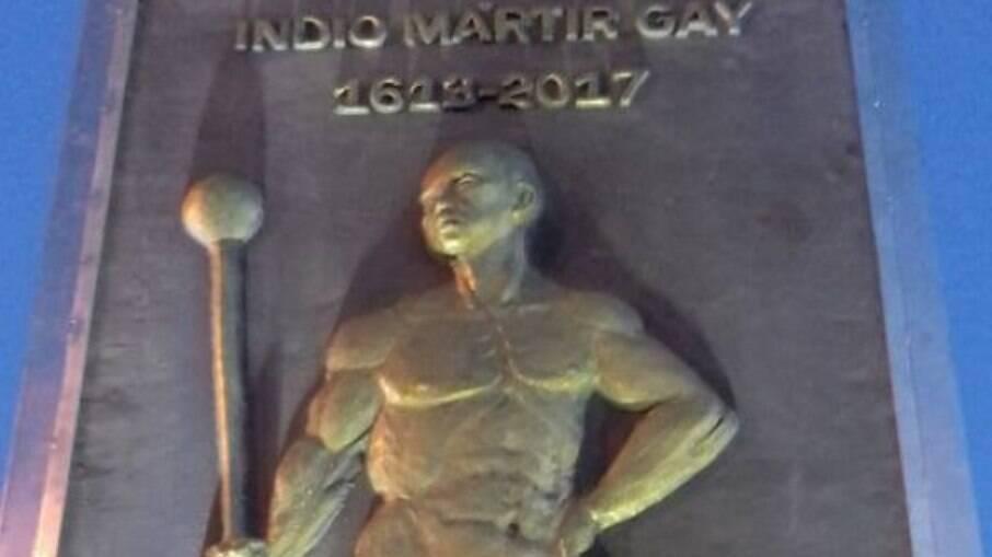 Monumento na Praça Marcílio Dias, no centro de São Luís, capital do Maranhão