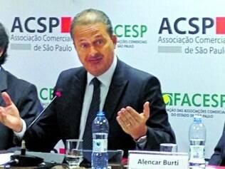 Empresários. Campos criticou Dilma em palestra ontem na Associação Comercial de São Paulo