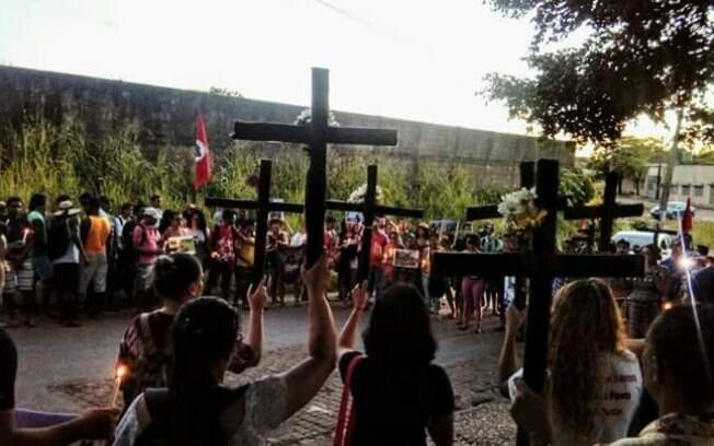 Ato público em Marabá (PA) denuncia massacre de Pau D'arco, em 2017