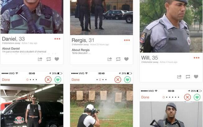 Tumblr compila perfis de agentes no Tinder: fardas e armas são usadas para conquista