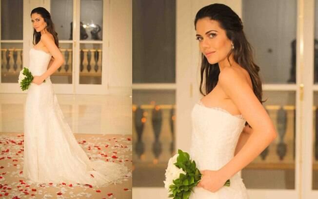 Daniela Albuquerque renovou os votos de casamento com Amilcare Dallevo nessa sexta-feira (23)