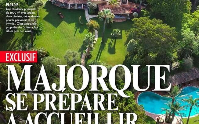 A nova mansão de Michael Schumacher estampou a capa da revista suíça