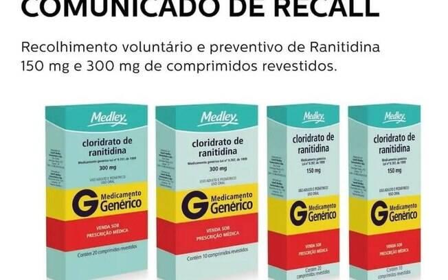 Medley faz recall de remédio para úlcera gástrica
