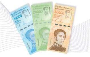 Nova cédula de bolívar venezuelano vale mais que salário mínimo no país