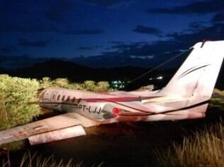 Avião de Eduardo Costa após acidente em Minas Gerais