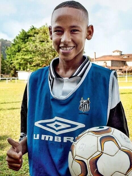 Neymar ainda criança