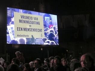 Homenagem as vítimas do ataque ao jornal, na Holanda