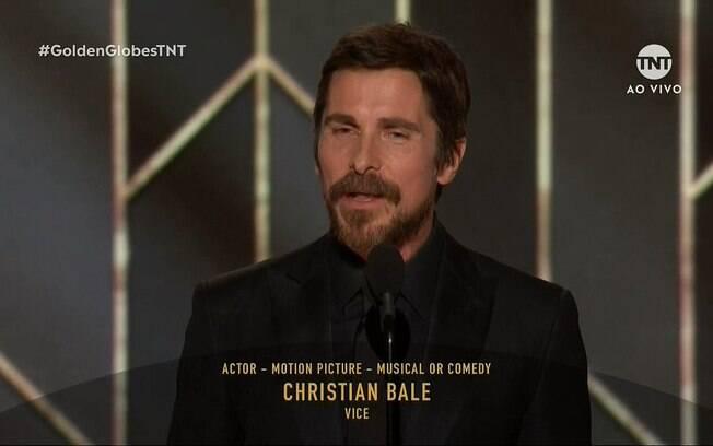 Christian Bale ganhou o Globo de Ouro de ator em comédia por