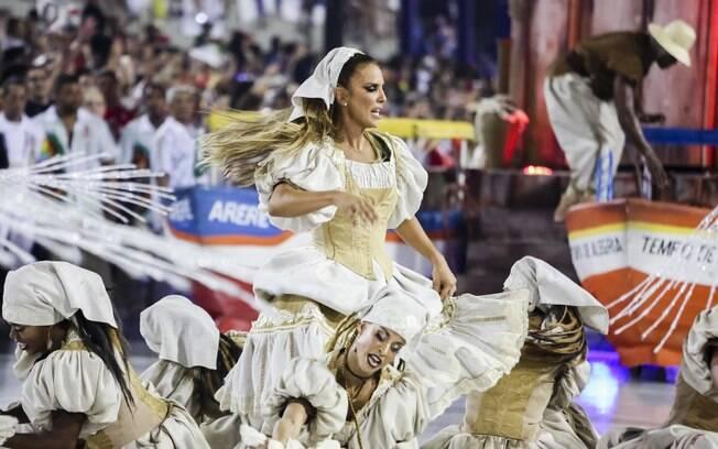 Acadêmicos do Grande Rio homenageia a cantora Ivete Sangalo na Sapucaí