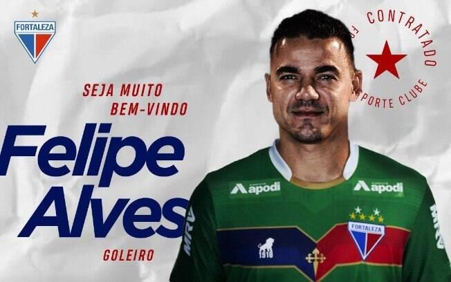 Mercado da bola: Felipe Alves chegou ao Fortaleza