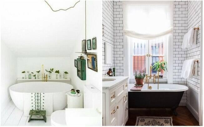 Banheiras que fogem de formatos e cores convencionais são uma forma estilosa de decorar o banheiro