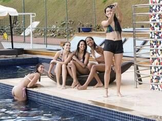 Esportes  - Nova Lima / MINAS GERAIS / BRASIL Atletas de Volei do Minas Tenis Clube, tem dia de tratamento de beleza, em Spa em macacos   Foto: Uarlen Valerio / 20-08-2014