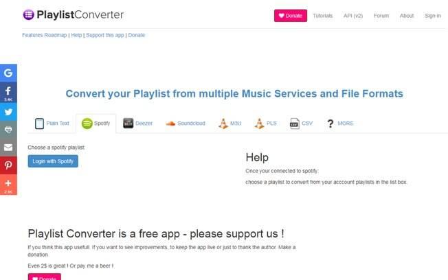 Apesar de converter playlists automaticamente no Playlist Converter, ainda é preciso transferir as músicas