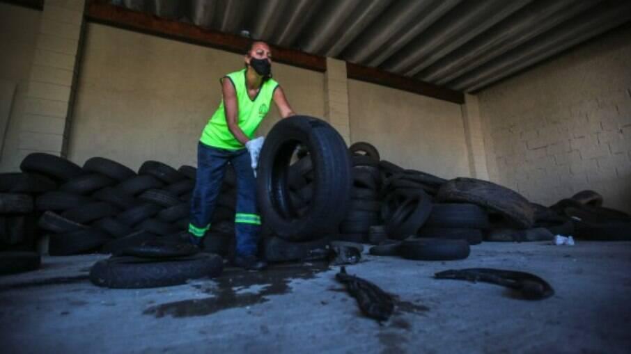 Cidade conta com três Ecopontos que recebem os pneus usados e inservíveis