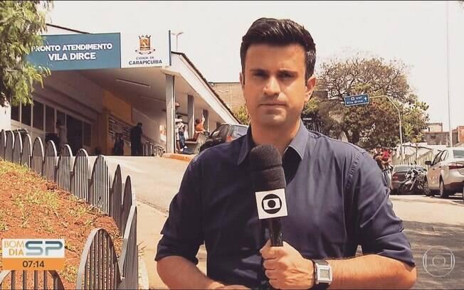 Repórter Marcelo Poli cometeu gafe e equipe tirou sarro dele