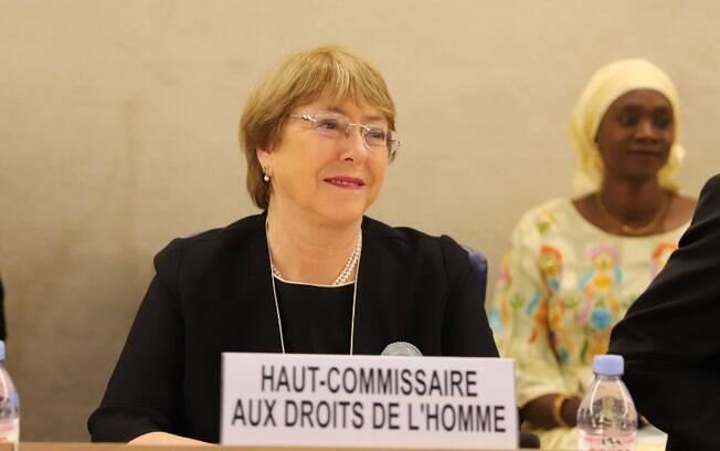 Bachelet no início da 41ª Sessão do Conselho de Direitos Humanos, em Genebra