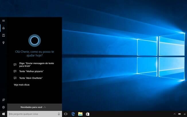 Assistente virtual Cortana chegou a computadores após grande atualização no Windows 10
