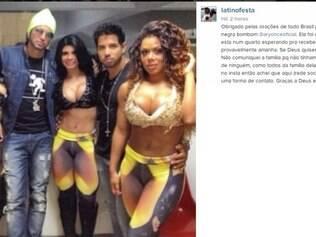 Latino usou seu perfil no Instagram para agradecer pelas orações por Ariany (à direita)
