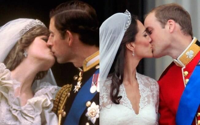 ... e o beijo para as câmeras e para a posteridade