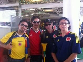 Grupo de colombianos está preparado para a Copa e revela torcida pelo Brasil