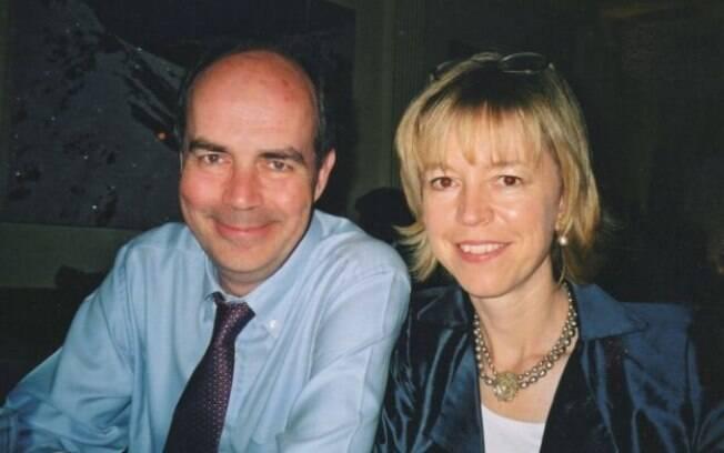 Barbara Want com o marido, Nick Clarke; morte dele impactou saúde dela