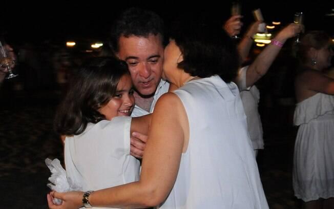 Tony Ramos com a mulher e a neta, Gabriela