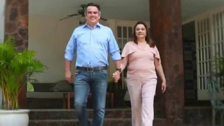 Ciro Nogueira e sua mãe, Eliane Nogueira, sua suplente no Senado