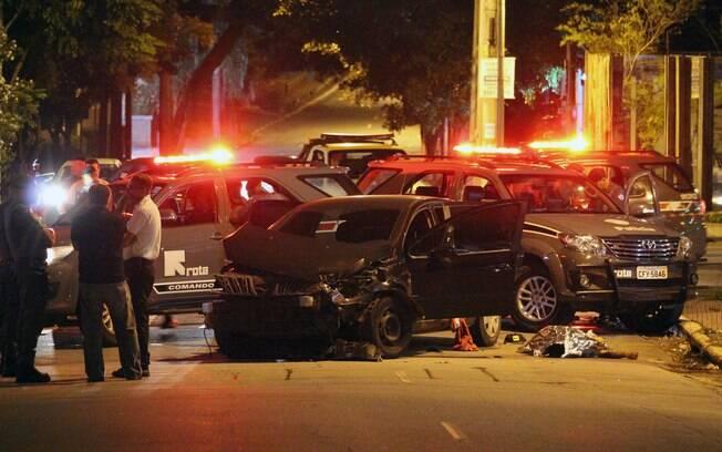 Perseguição começou após a quadrilha assaltar uma loja no Itaim Bibi