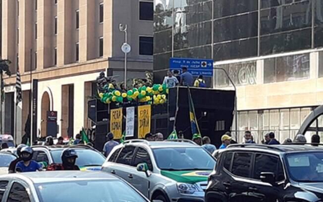Manifestações contra Doria na avenida Paulista: pedido de impeachment com base em argumentos tão frágeis quanto os dos que querem a saída de Bolsonaro