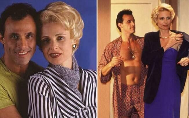 Ralf (Oscar Magrini) e a amante Léia (Sílvia Pfeiffer) em