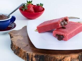 Na Los Niños, a paleta de morango com recheio de Nutella é uma das mais pedidas
