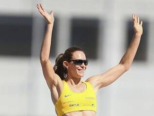 Fabiana saltou 4,65m, marca suficiente para confirmar o índice