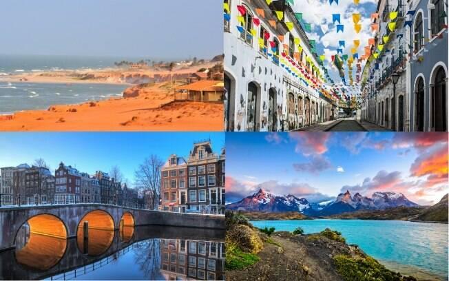 Alguns são destinos exóticos, outros são agitadas metrópoles. O que não faltam são lugares para viajar em janeiro