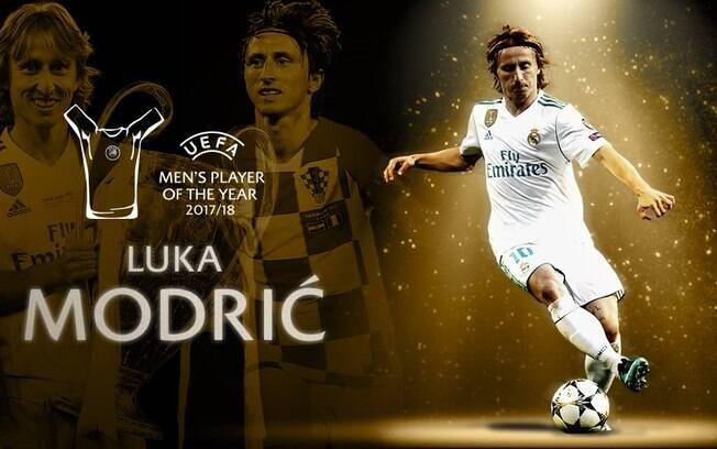 Modrid foi eleito o melhor jogador da Uefa