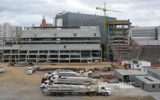 Essa será a visão de um dos camarotes  localizados na parte lateral da Nova Arena