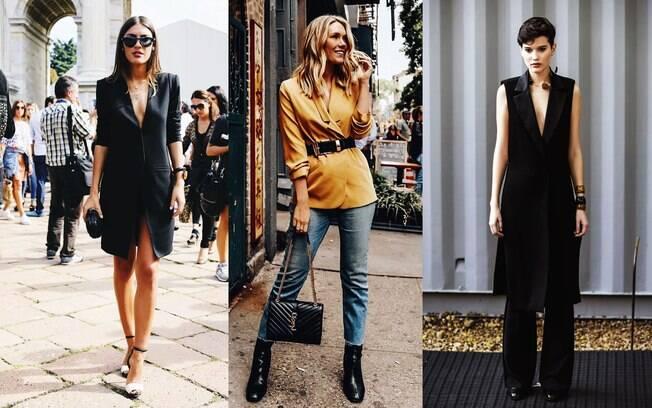 Blazer e colete que vira blusa: o mais ousado dos truques de estilo