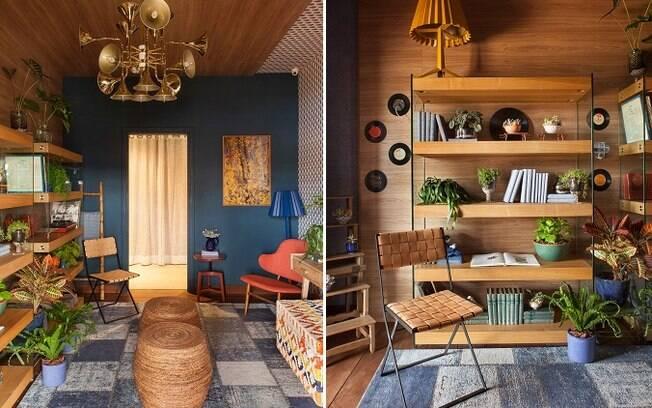 Utilizar materiais como madeira, pedras e fibras naturais também ajuda a criar o estilo