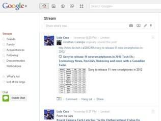 Google+: agora integrada às buscas do Google